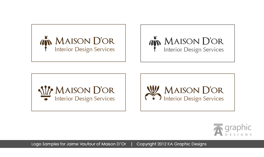 Maison D'or Logo Design
