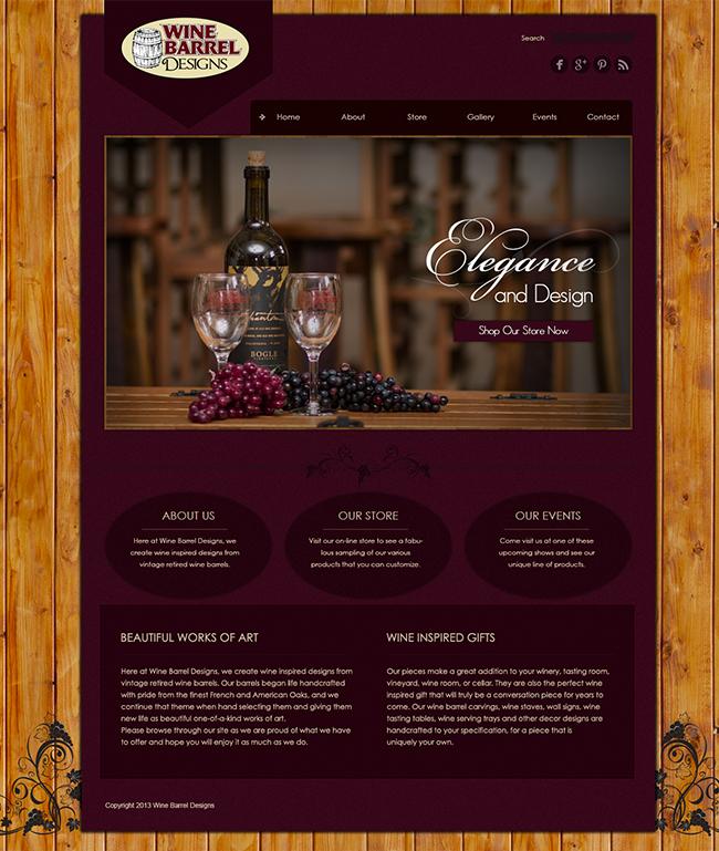Wine Barrel Designs E-commerce Web Design