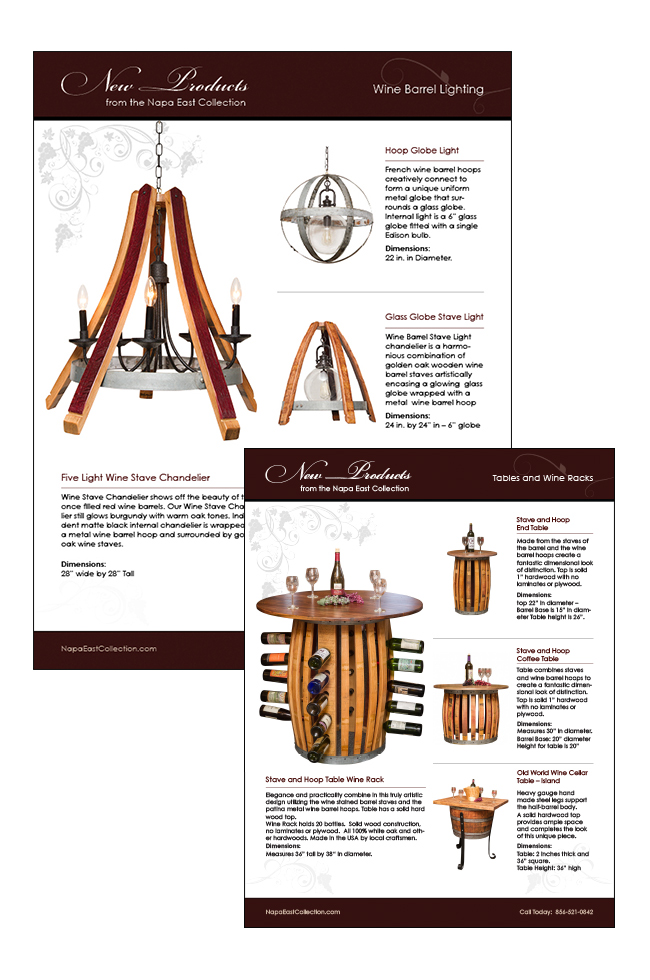 Print Wine Barrel New Products Flyer