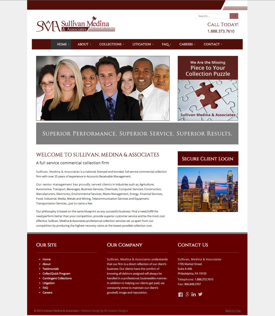 Sullivan and Median Website Desgin