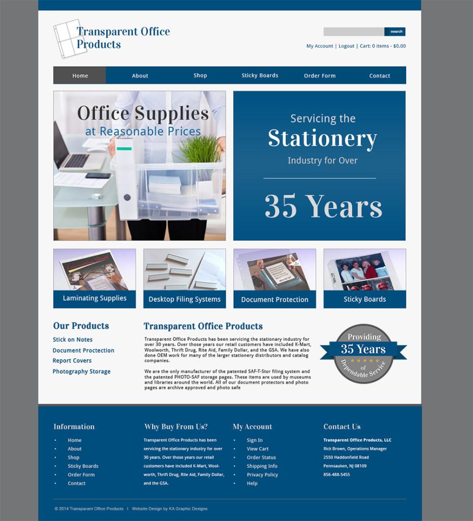 Transparent Office Website Design