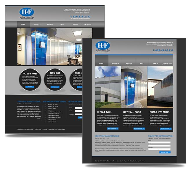 H&F Website Design