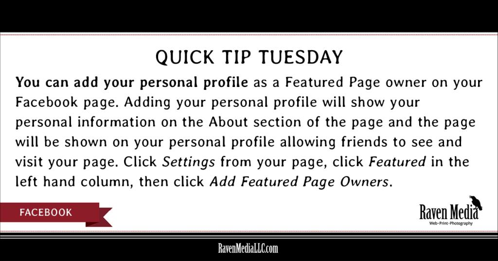 Raven Media, LLC: Quick Tip Tuesday