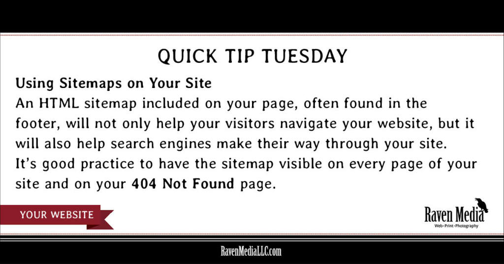 Quick Tip Tuesday: Using Sitemaps on Your Site