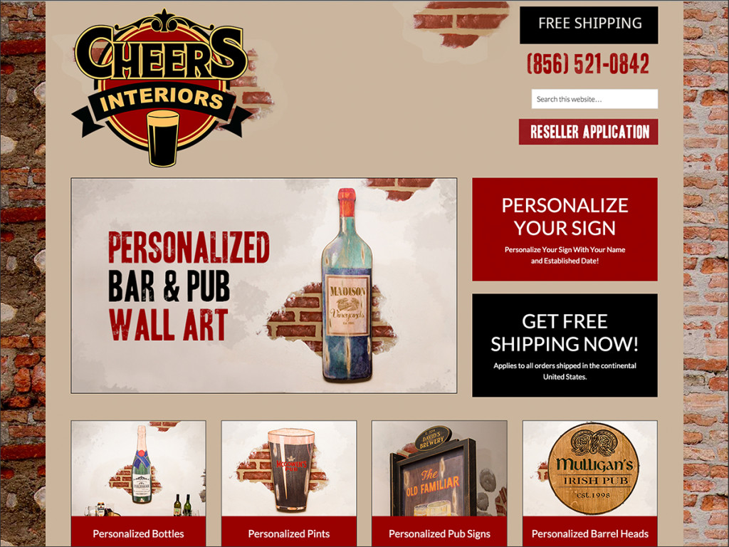 Cheers Interiors Website Design Project
