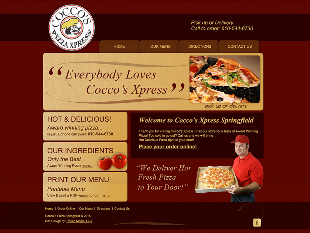 Cocco's Pizza Website