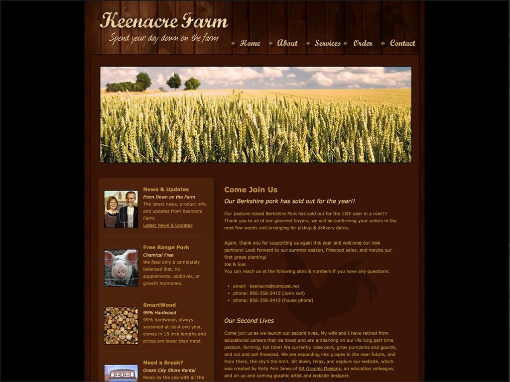 Keenacre Website Design