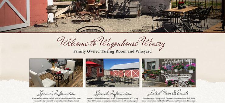 Wagonhouse Winery Website Design