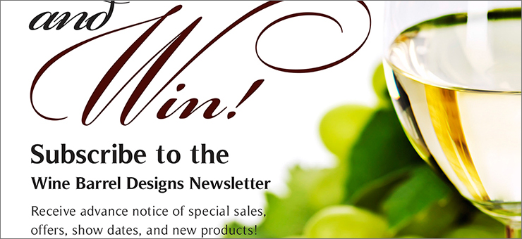 Wine Barrel Designs Newsletter Flyer
