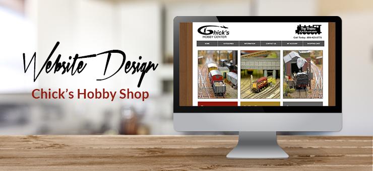 Chicks Hobby Shop E-Commerce Website Design