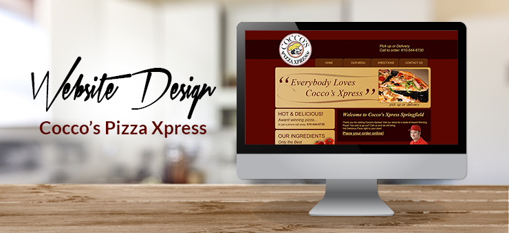 Coccos Pizza Website Design