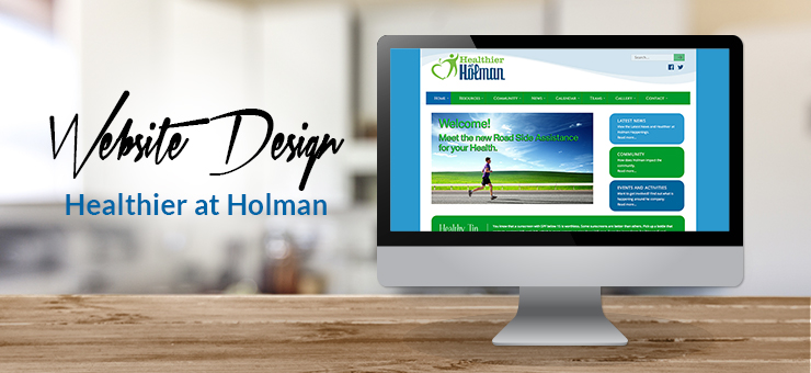 Healthier at Holman Website Design