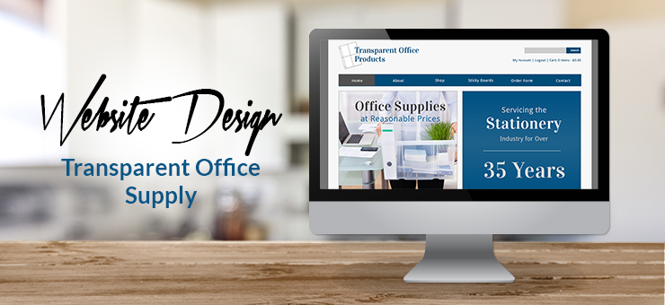 Transparent Office Supply Website Design