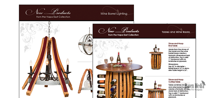 WIne Barrel Designs Product Sheet Design
