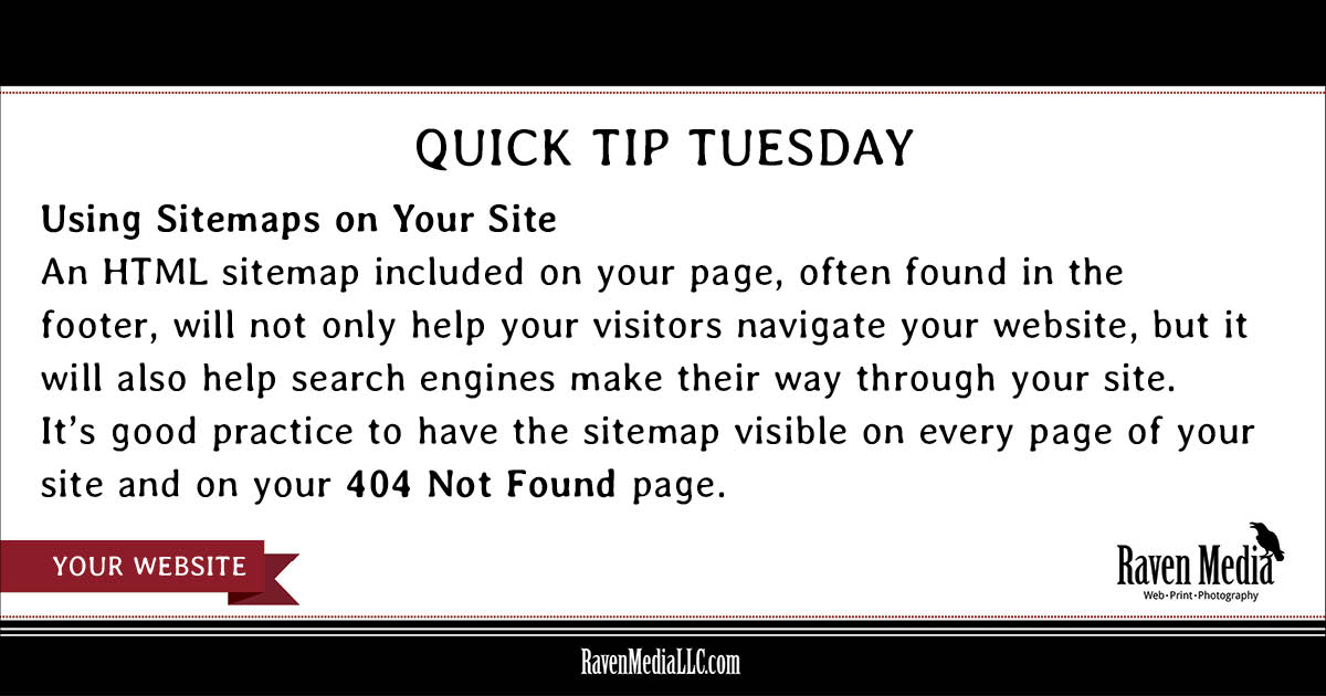 Quick Tip Tuesday: Sitemaps on Your Site