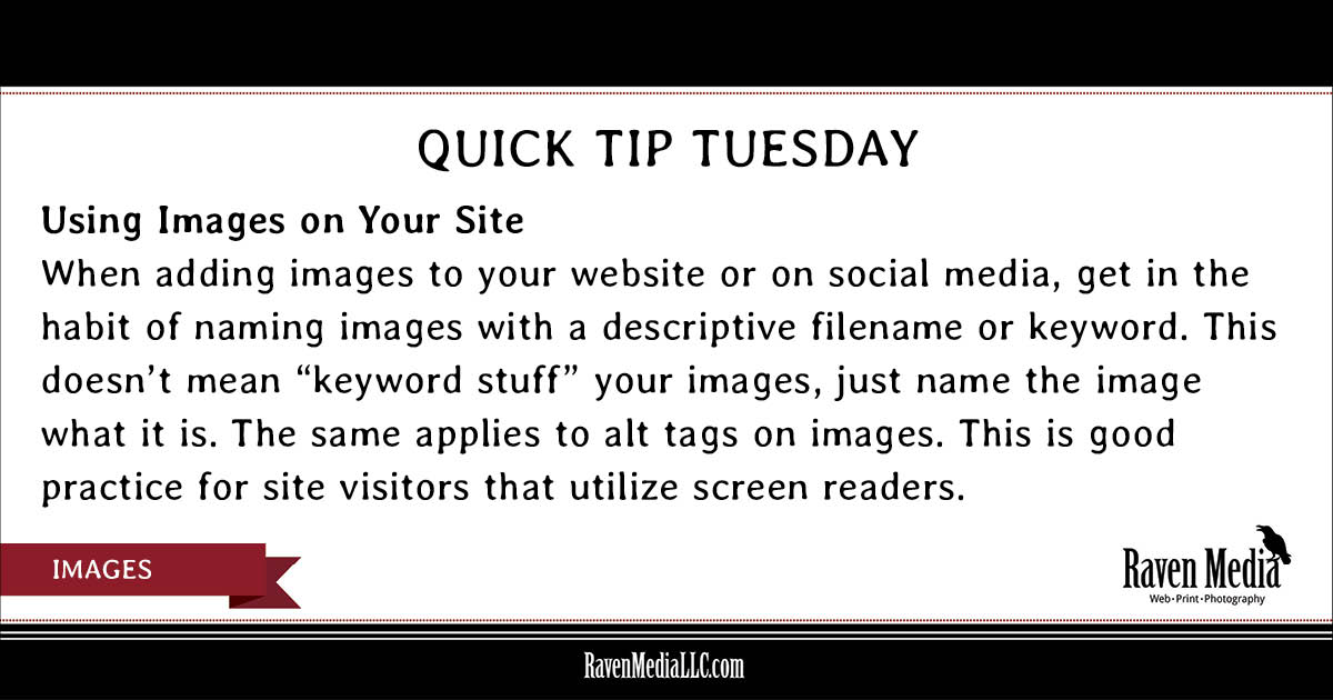 Quick Tip Tuesday: Using Images on Your Site