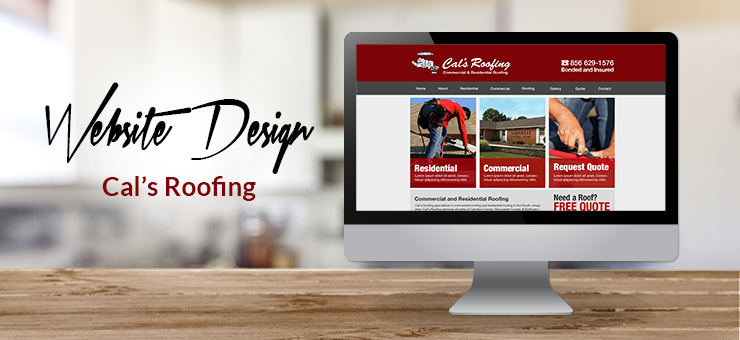 Cals Roofing Website Design
