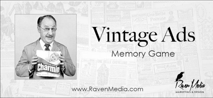 Vintage Ads Memory Game