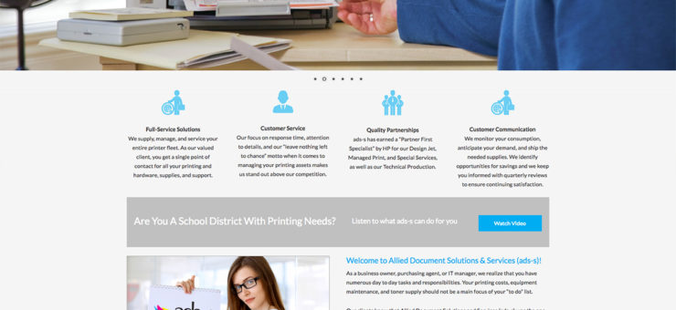 Allied Document Solutions Website Design