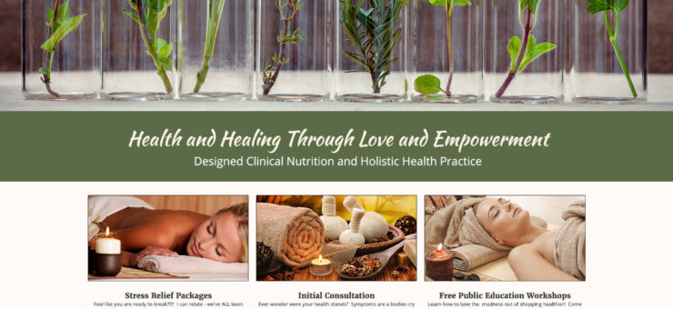 Thrive Health and Wellness Website Design