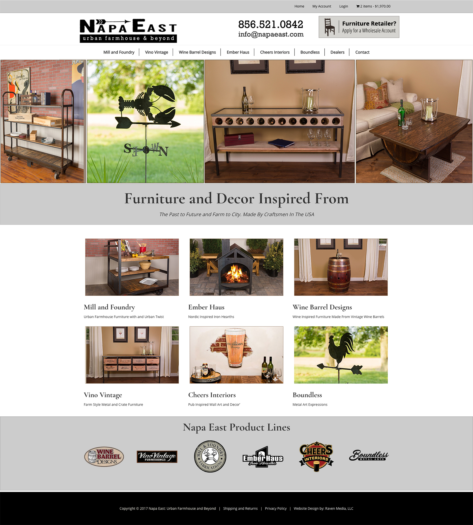 Napa East Website Design