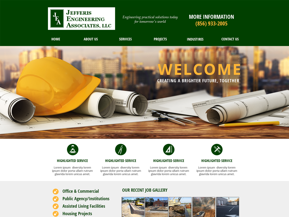 Website Design for Architectural Engineering and Design Firm