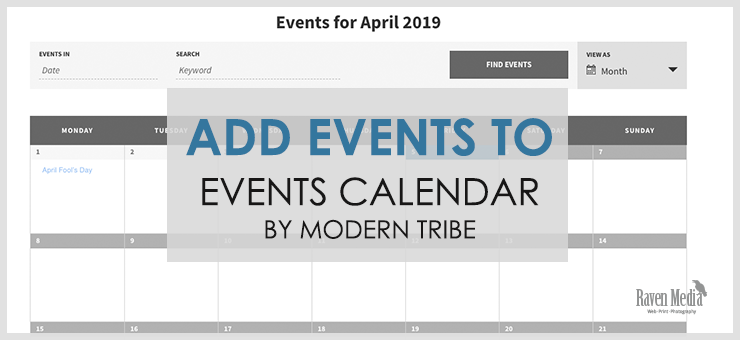 Add events to Events Calendar by Modern Tribe