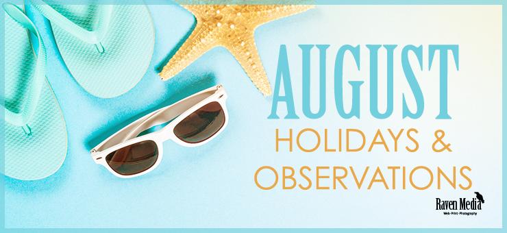August Holidays 2019
